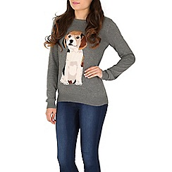Sugarhill Boutique - Grey frankie beagle jumper