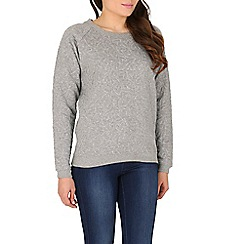 Sugarhill Boutique - Grey betty heart sweater