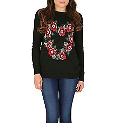 Sugarhill Boutique - Black lena loves flowers sweater