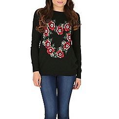 Sugarhill Boutique - Black lena loves flowers sweater