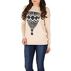 Sugarhill Boutique - Cream lena hot air balloon jumper