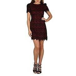 Mela - Dark red lace detailed dress
