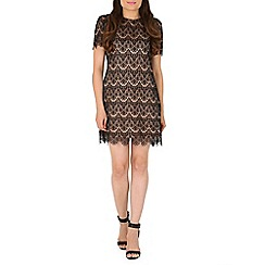Mela - Black lace detailed dress