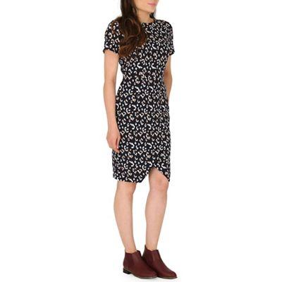Sugarhill Boutique Navy elspeth leopard dress