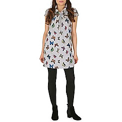 Izabel London - Grey bird print dress
