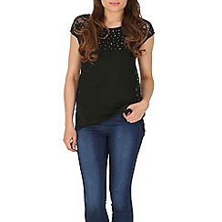 Izabel London - Black sliver studded top