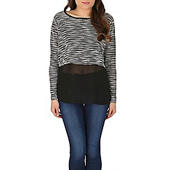Izabel London - Multicoloured monochrome knit top