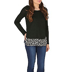 Izabel London - Black animal print top