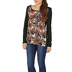 Izabel London - Black knit printed top