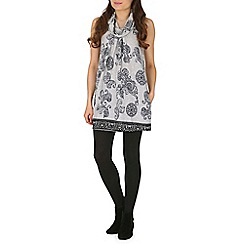 Izabel London - Grey multi coloured tunic top