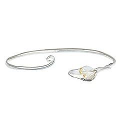 Banyan - Silver lily cuff