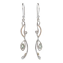 Banyan - Silver amethyst and pearl drop earring