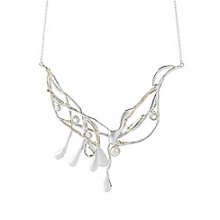 Banyan - Silver amethyst and pearl necklace