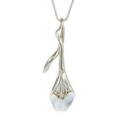 Banyan - Silver lily pendant