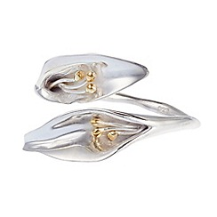 Banyan - Silver sterling silver lily ring