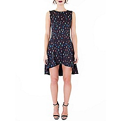 Wolf & Whistle - Black beetle print button front dress