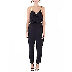 Wolf & Whistle - Black strappy cross over jumpsuit
