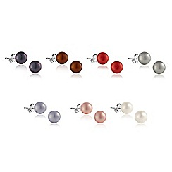 Kyoto Pearl - Multicoloured earring