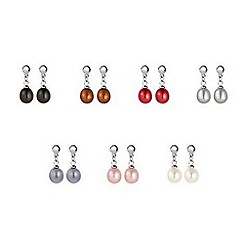 Kyoto Pearl - Multicoloured pearl drop earrings