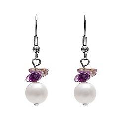 Kyoto Pearl - Purple pearl drop earring