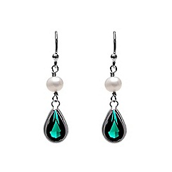 Kyoto Pearl - Black dangling earrings