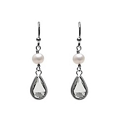 Kyoto Pearl - Grey dangling earrings