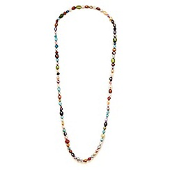 Kyoto Pearl - Multicoloured colourful pearl necklace