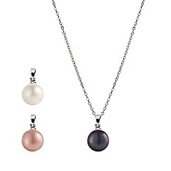 Kyoto Pearl - Multicoloured pearl drop necklace