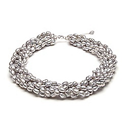 Kyoto Pearl - Grey twisted pearl necklace