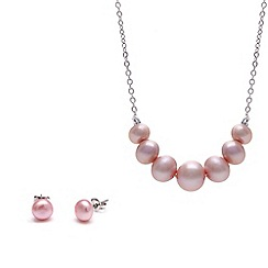 Kyoto Pearl - Pink pearl necklace set