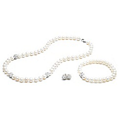 Kyoto Pearl - White tri set