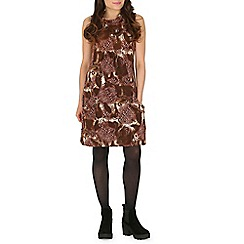 Izabel London - Brown fold over tunic