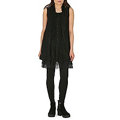 Izabel London - Black lace plain tunic top
