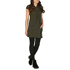 Izabel London - Khaki pocketed tunic top