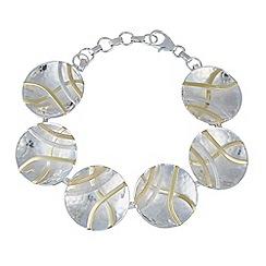 Banyan - Silver concave disc bracelet
