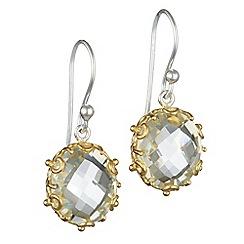 Banyan - Silver amethyst earrings