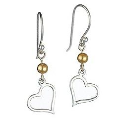 Banyan - Silver silver heart earrings