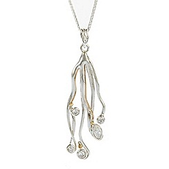 Banyan - Silver gold filled zirconia pendant