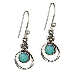 Banyan - Silver blue opalite earrings
