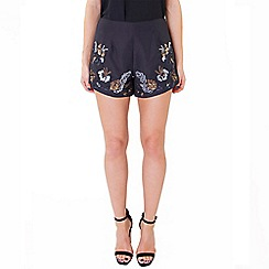 Wolf & Whistle - Black sequined shorts
