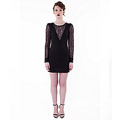 Wolf & Whistle - Black lace dress