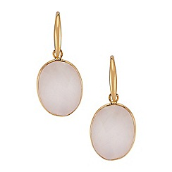 The Genuine Gemstone Company - Pink quartz vermeil earrings