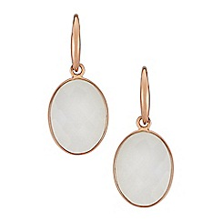 The Genuine Gemstone Company - White moonstone rose gold vermeil earrings