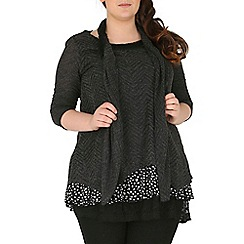 Samya - Grey polka dot layered top