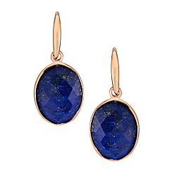 The Genuine Gemstone Company - Blue rose gold vermeil earrings
