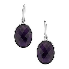 The Genuine Gemstone Company - Purple amethyst sterling silver earrings