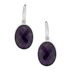 The Genuine Gemstone Company - Purple amethyst sterling silver earrings