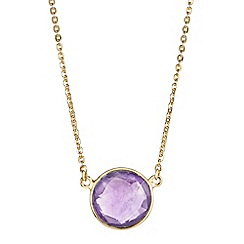 The Genuine Gemstone Company - Purple amethyst vermeil necklace 3.41cts