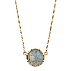 The Genuine Gemstone Company - Grey labradorite vermeil necklace 3.37cts