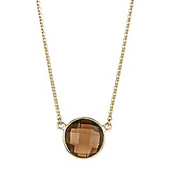The Genuine Gemstone Company - Brown quartz vermeil necklace 3.50cts